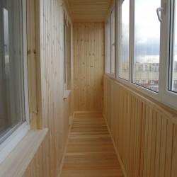Отделка лоджий вагонкой деревянной
