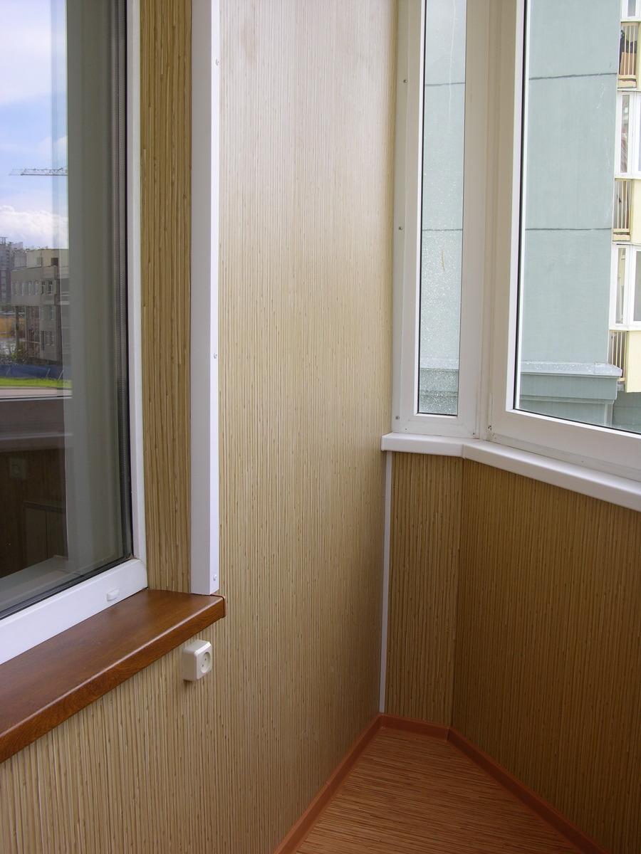 Обшивка балконов и лоджий пластиковыми панелями (пвх). отдел.