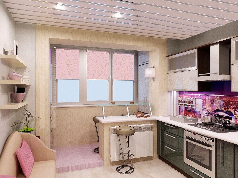 сcоединить кухню с балконом